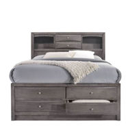 Picture of Emily Grey Queen Storage Bed